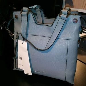 Calvin klein handbag shoulder bag blue mist